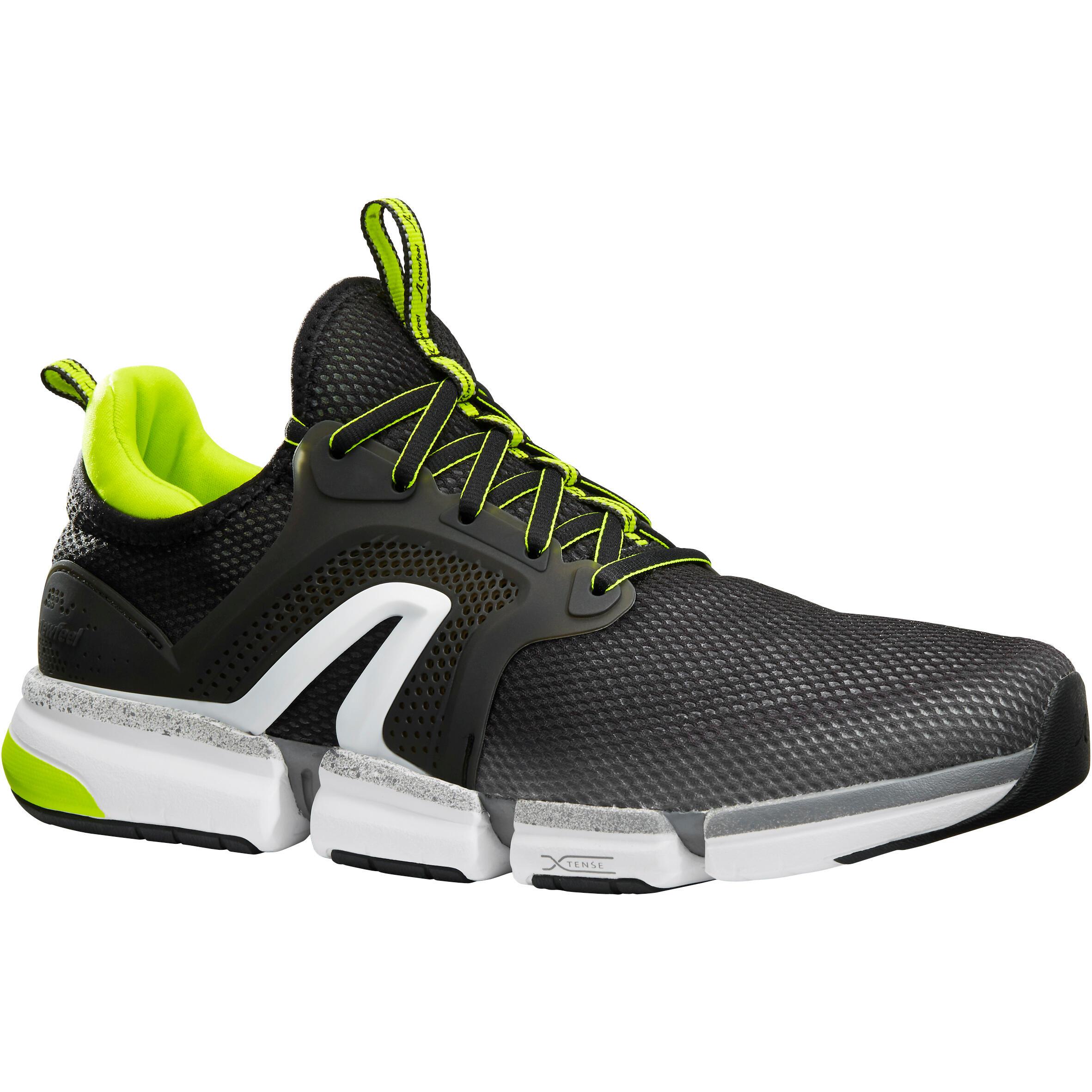 Chaussures marche sportive homme pw 590 xtense gris jaune newfeel