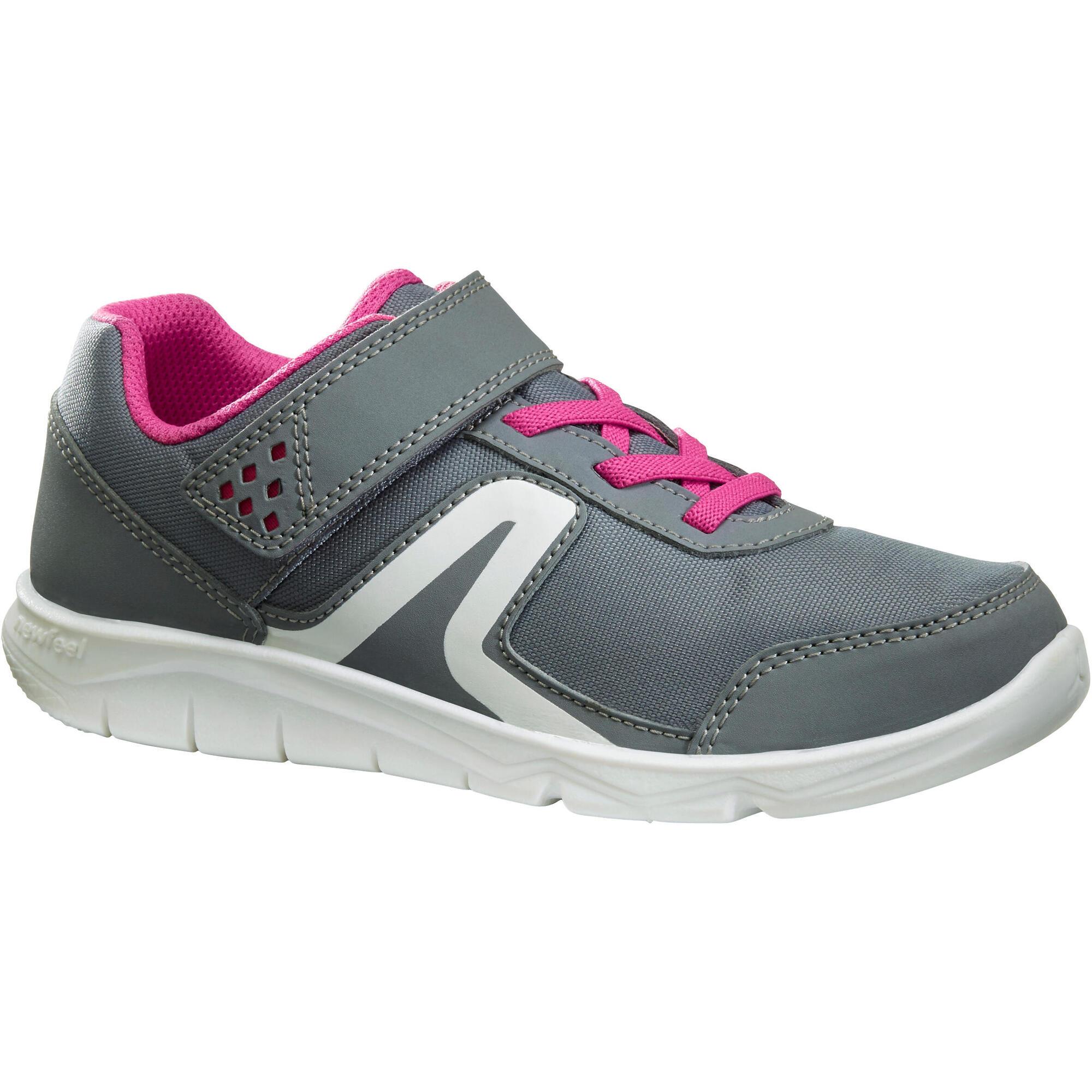 Chaussures marche sportive enfant pw 100 gris rose newfeel - Chaussure enfant decathlon ...