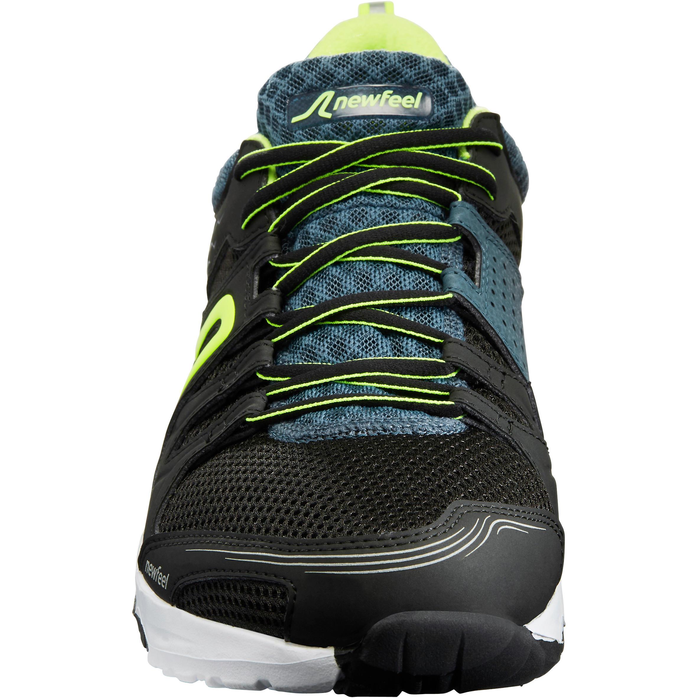 Walking shoes for men PW 240 - Black/Green