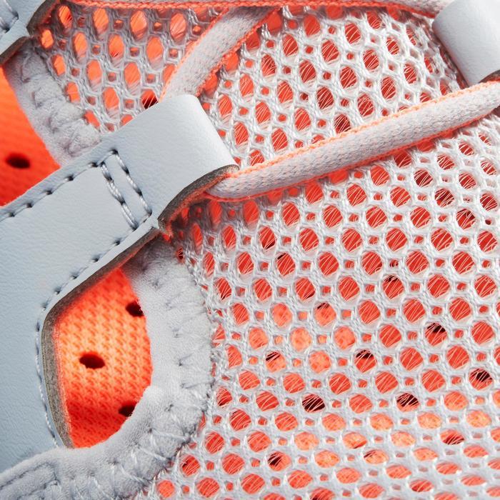兒童款健走鞋PW 500 Fresh-灰色/珊瑚紅