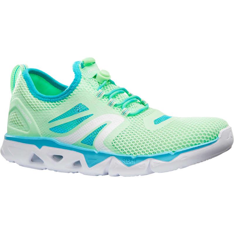 WOMEN SPORT WALKING SHOES Power Walking - PW 500 Fresh green  NEWFEEL - Walking Trainers