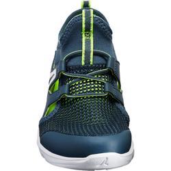Zapatillas de Marcha Deportiva Newfeel PW 500 Fresh niño gris y verde