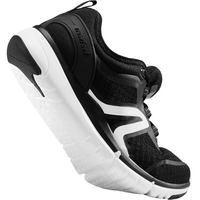 Damessneakers voor sportief wandelen Soft 540 mesh zwart/wit