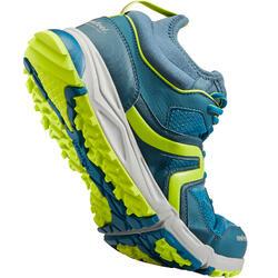 Zapatillas marcha nórdica hombre NW 500 azules pavo real / verdes anís