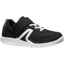 Kindersneakers voor wandelen en sport op school PW 100 zwart / wit