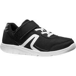 PW 100 Children's Fitness Walking Shoes - Black/White