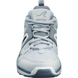 Herensneakers voor sportief wandelen HW 500 mesh grijs