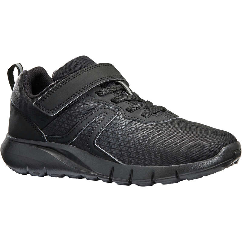 JUNIOR SPORT WALKING SHOES Hiking - Soft 140 full black NEWFEEL - Outdoor Shoes