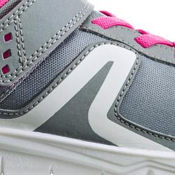 Kindersneakers PW 100 grijs/roze