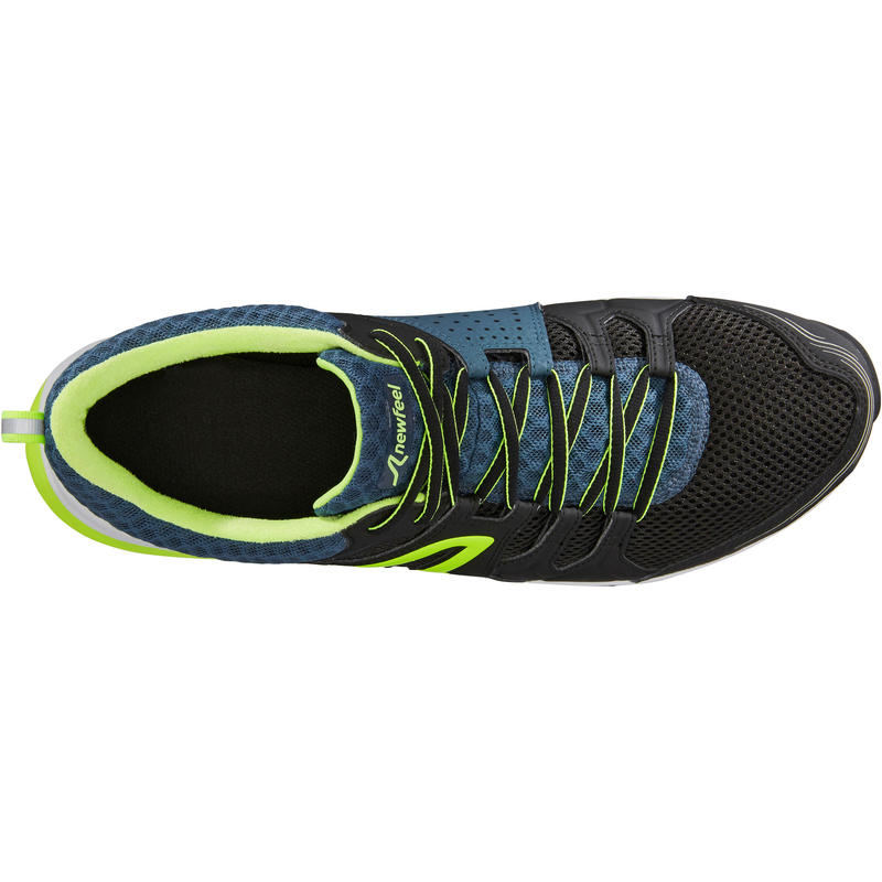 Walking shoes for men PW 240 - Black/Green