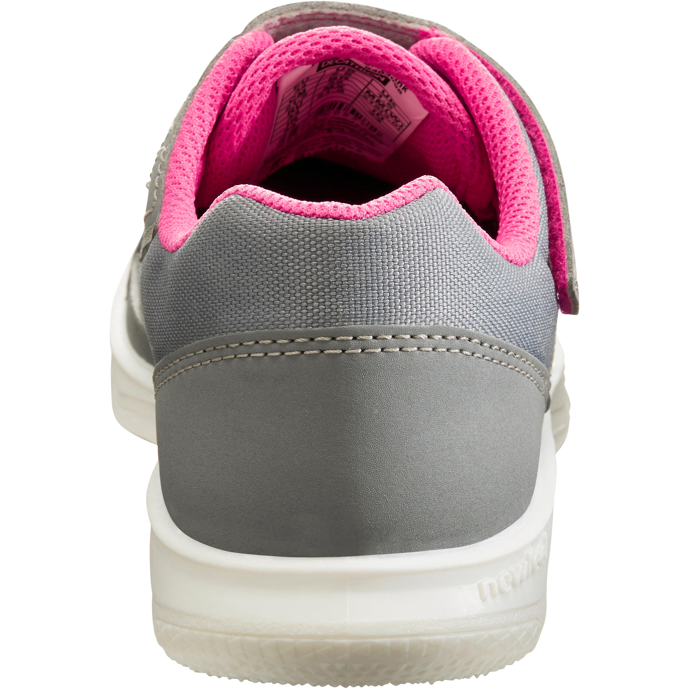 Walking Shoes for kids PW 100 - grey/pink