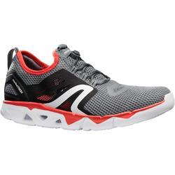 男款健走鞋PW 500 Fresh-灰色/紅色