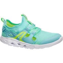 Chaussures marche sportive enfant PW 500 Fresh gris / vert