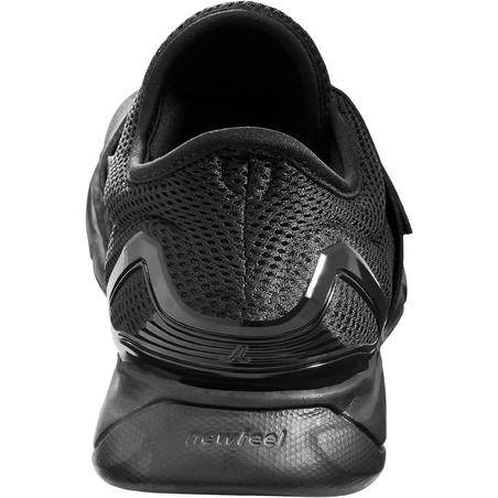 Soft 180 Strap Men's Fitness Walking Shoes - Black