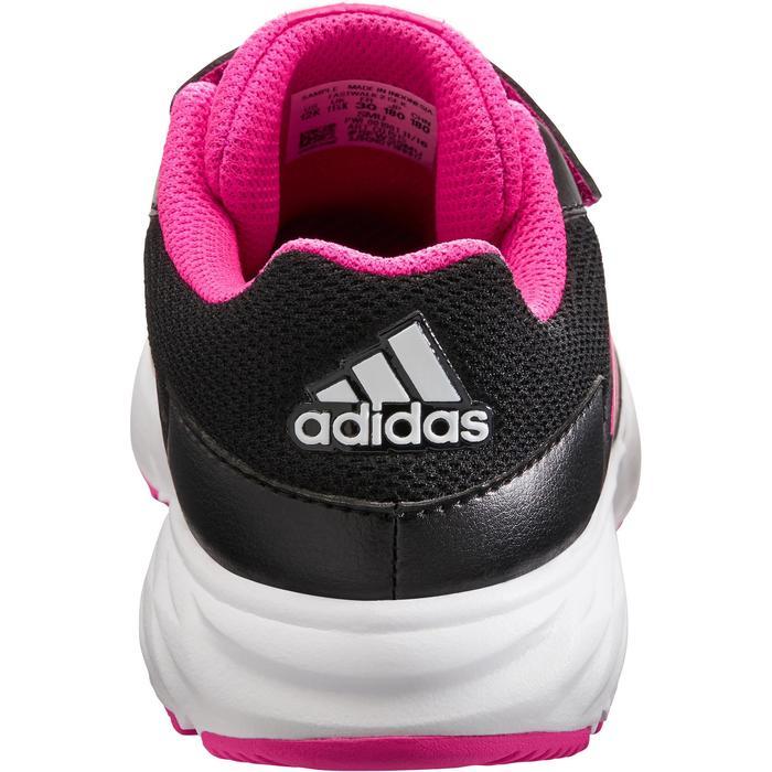Chaussures marche sportive enfant Fastwalk2 Scratch noir / rose - 1261074