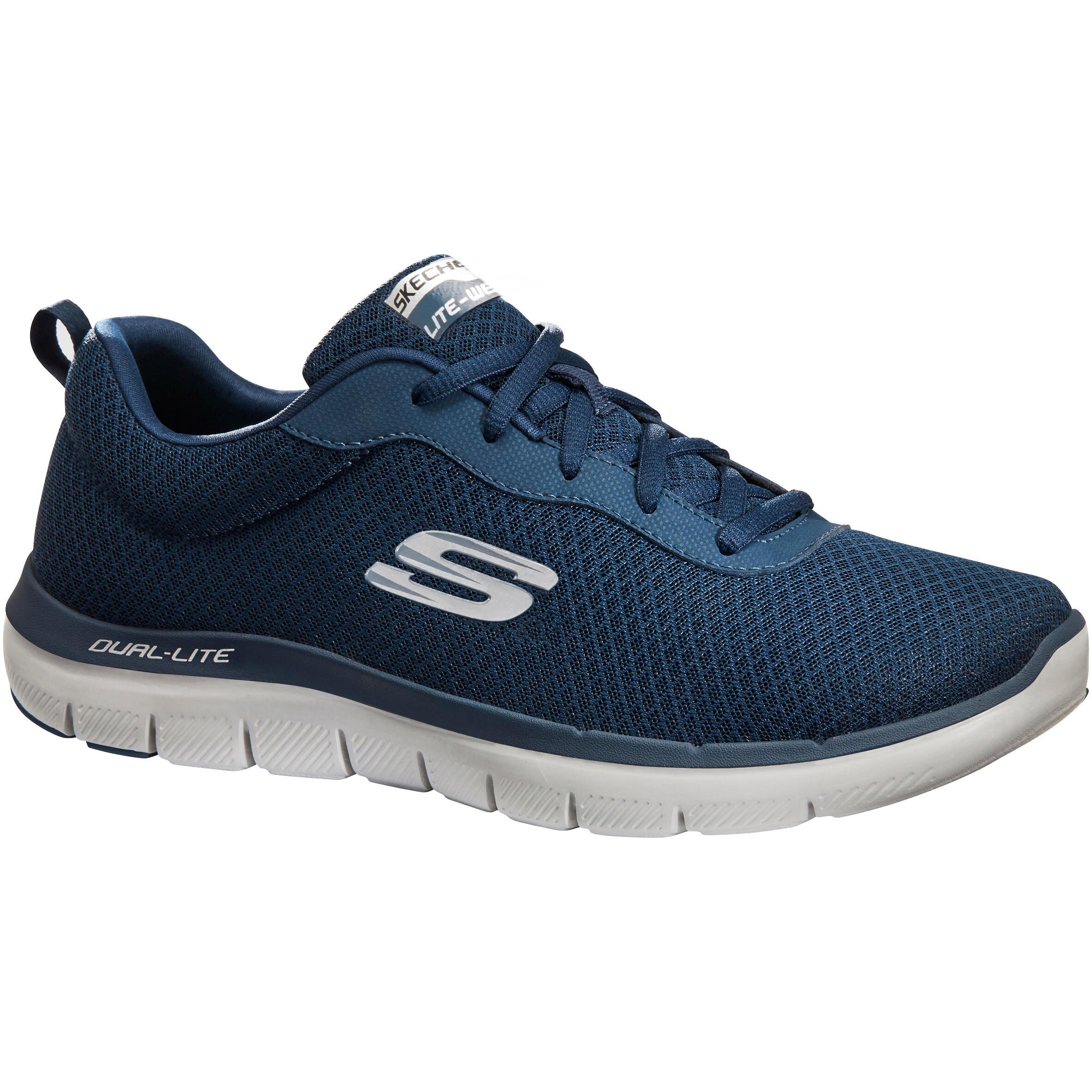 Skechers Herensneakers voor sportief wandelen Dual Lite blauw