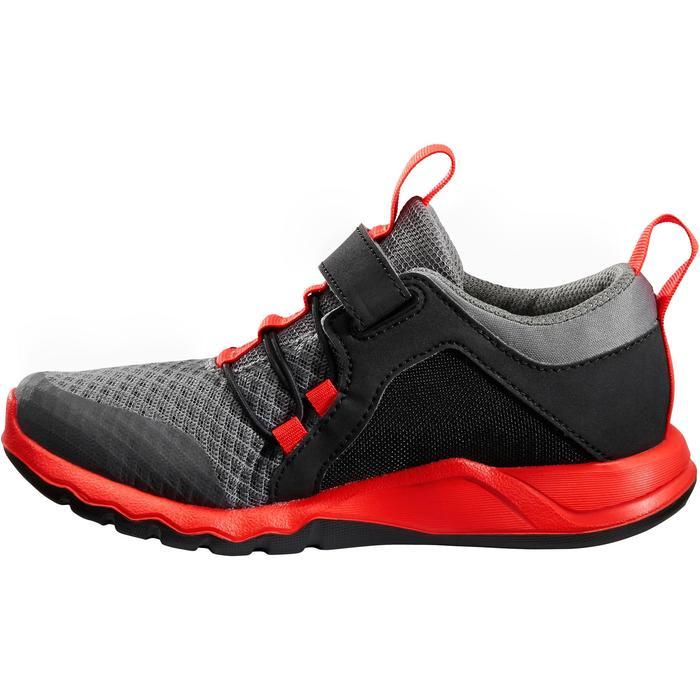 Chaussures marche sportive enfant Rapida Flex2 noir / rouge - 1261080