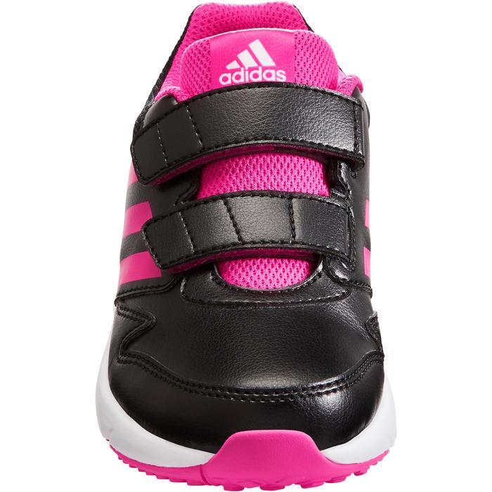 Chaussures marche sportive enfant Fastwalk2 Scratch noir / rose - 1261086