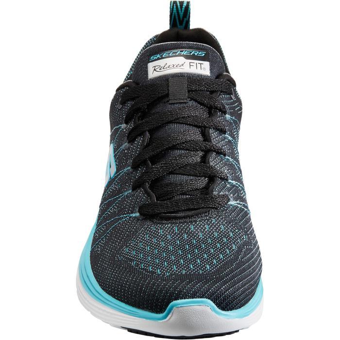 Damessneakers voor sportief wandelen Valeris zwart/turquoise - 1261088