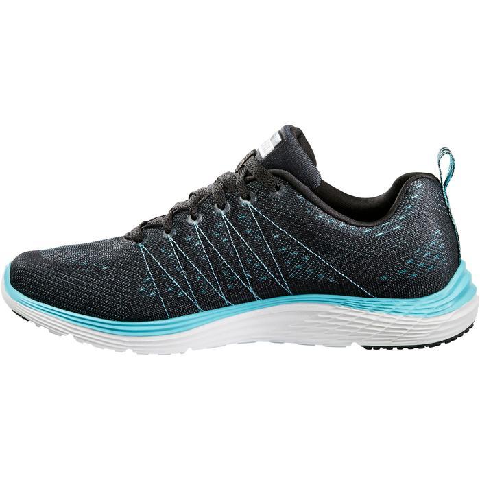 Damessneakers voor sportief wandelen Valeris zwart/turquoise - 1261110