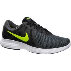 Herensneakers voor sportief wandelen Revolution 4 zwart/geel