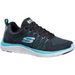 Damessneakers voor sportief wandelen Valeris zwart/turquoise