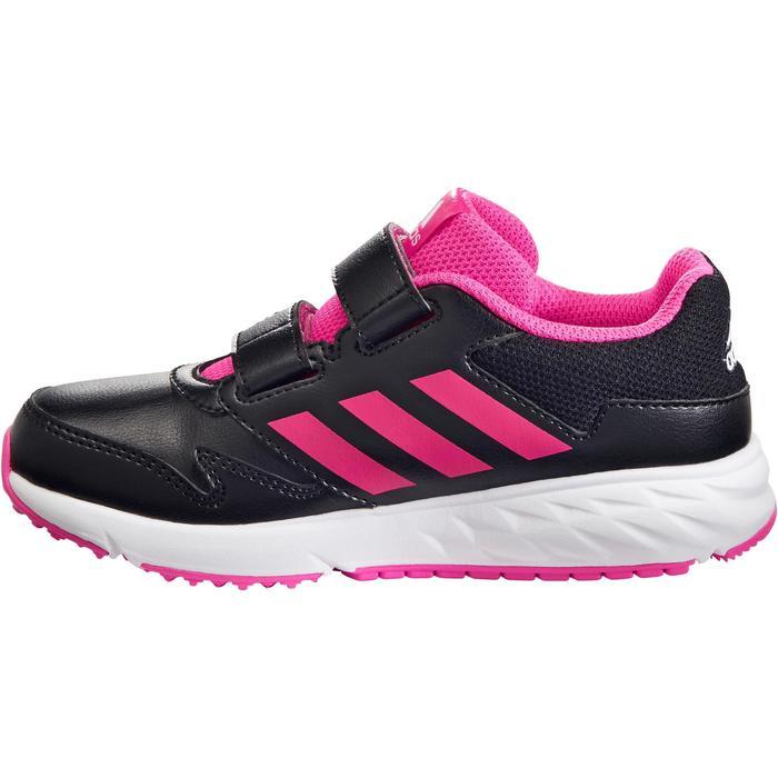 Chaussures marche sportive enfant Fastwalk2 Scratch noir / rose - 1261139