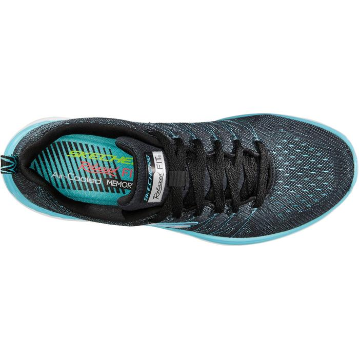 Damessneakers voor sportief wandelen Valeris zwart/turquoise - 1261157