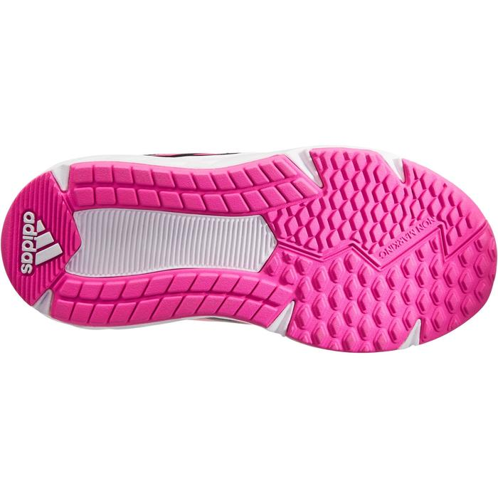Chaussures marche sportive enfant Fastwalk2 Scratch noir / rose - 1261192
