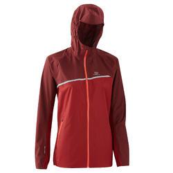 女款防水越野跑外套 - 暗紅色