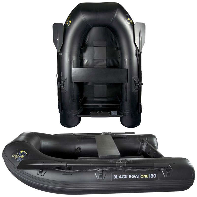 BOATS, ENGINES, BATTERIES Fishing - BLACK BOAT ONE 180 CARP SPIRIT - Fishing Equipment and Tackle