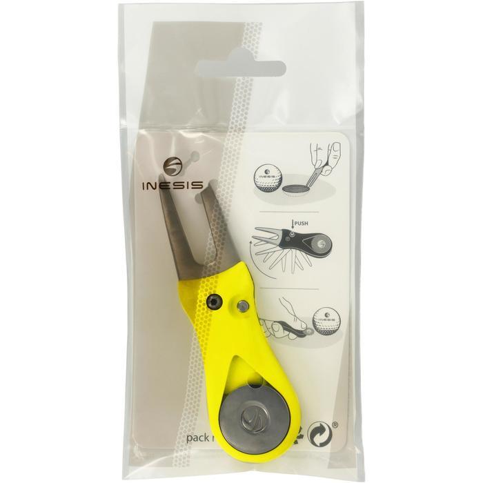 Automatic Divot Repair Tool - Yellow