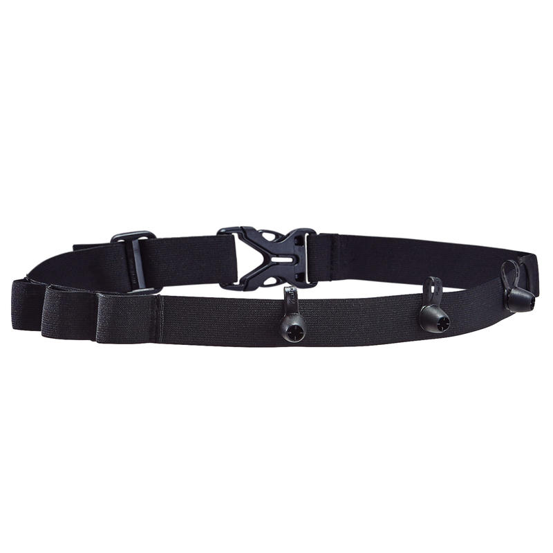 RACE NUMBER BELT - BLACK