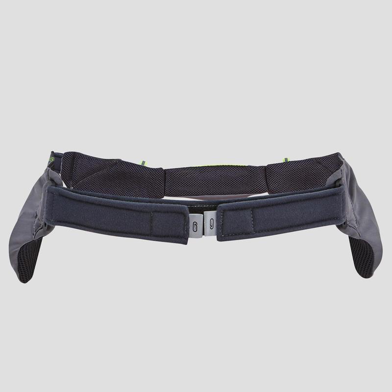 กระเป๋าใส่ขวดน้ำแบบคาดเอวสำหรับวิ่ง 2 ขวดขนาด 150 มล. (ไม่มีขวดน้ำในชุด)