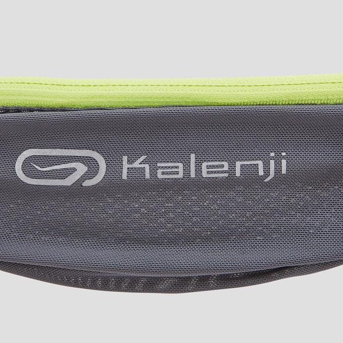 Cinturón Portabidón Running Kalenji 2x150 ml Gris Oscuro/Amarillo (No Incluidos)