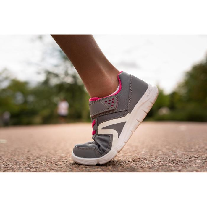 Chaussures marche enfant PW 100 gris / rose