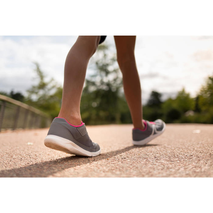 Zapatillas de marcha deportiva para niños PW 100 gris / rosa