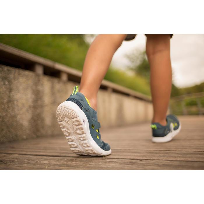 Zapatillas Caminar Newfeel PW 500 Fresh Niños Gris/Verde