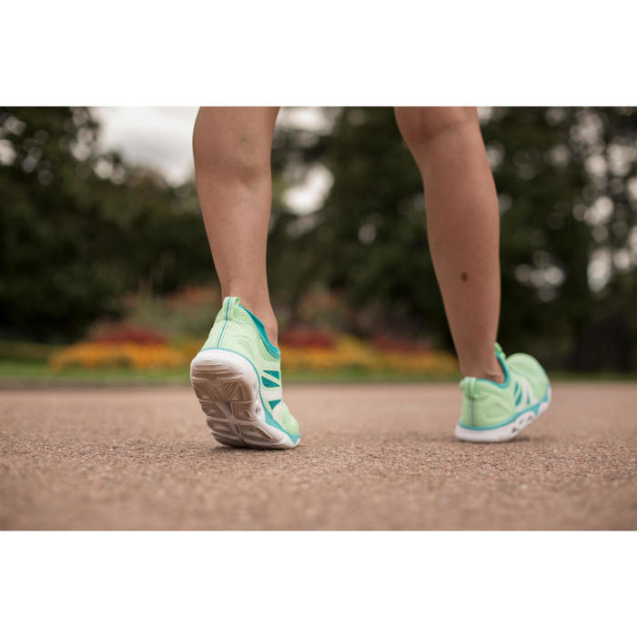 Chaussures marche sportive femme PW 500 Fresh gris / corail