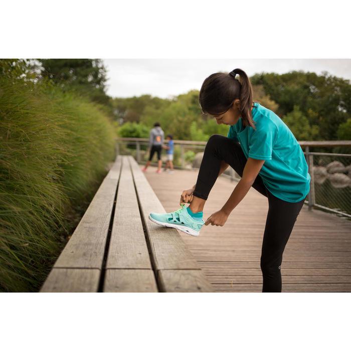 Zapatillas de Marcha Deportiva Newfeel PW 500 Fresh niña turquesa y verde