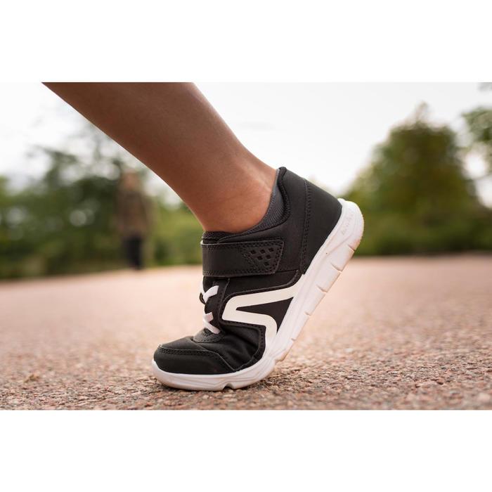 PW 100 Children's Fitness Walking Shoes - Black/White