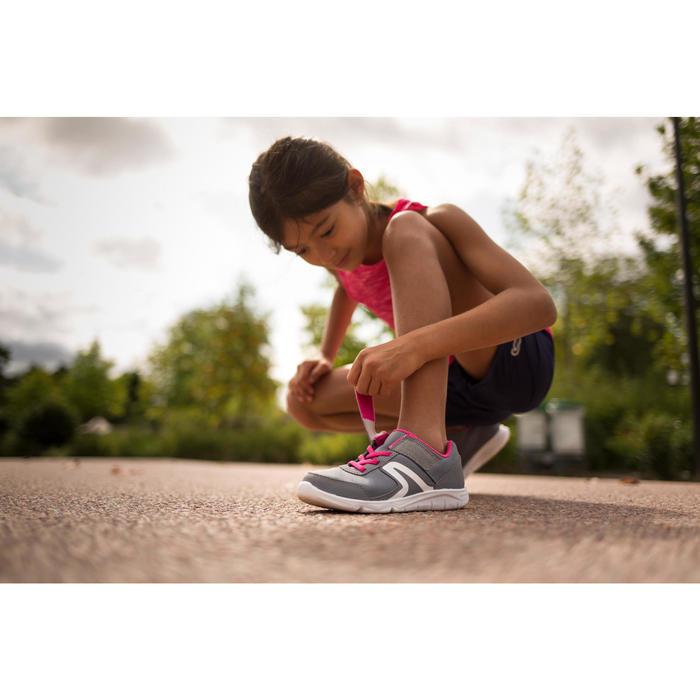 Kinderschoenen voor sportief wandelen PW 100 grijs / roze