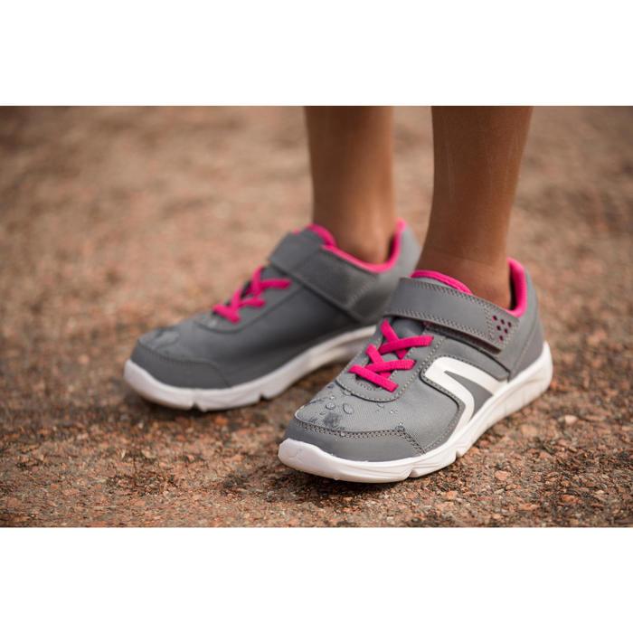 Zapatillas Caminar Newfeel PW 100 Niños Gris/Rosa