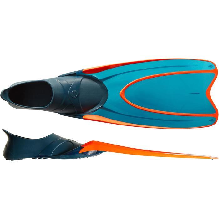 Palmes de snorkeling ou de plongée bouteille SNK 540 adulte turquoises rouges - 1261862