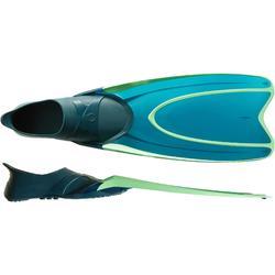 Zwemvliezen voor vrijduiken FRD100 volwassenen turquoise fluogroen
