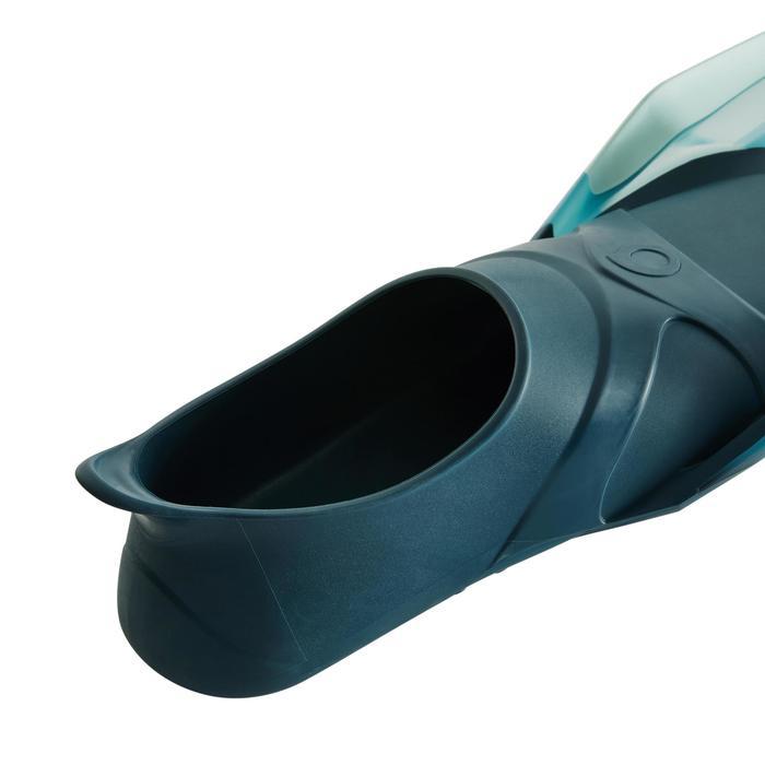 Palmes de snorkeling ou de plongée bouteille SNK 540 adulte turquoises rouges - 1261871