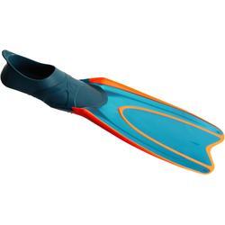Palmes de snorkeling ou de plongée bouteille SNK 540 adulte turquoises rouges
