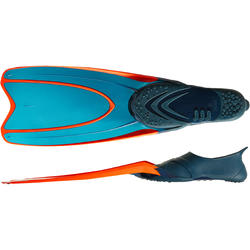 FRD100 Freediving Flippers for Adults Grey Neon