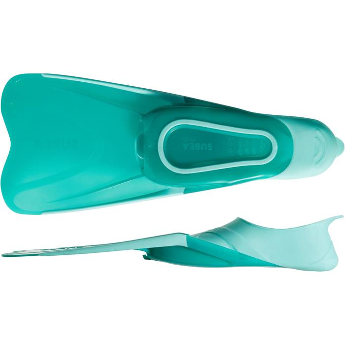 Snorkelvinnen voor volwassenen SNK 500 blauw/groen