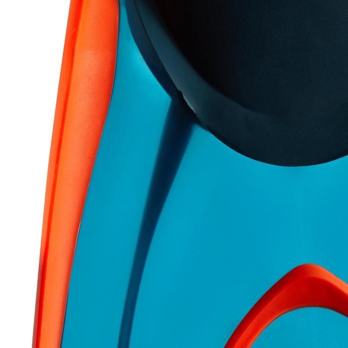 Palmes de snorkeling ou de plongée bouteille SNK 540 adulte turquoises rouges - 1261883